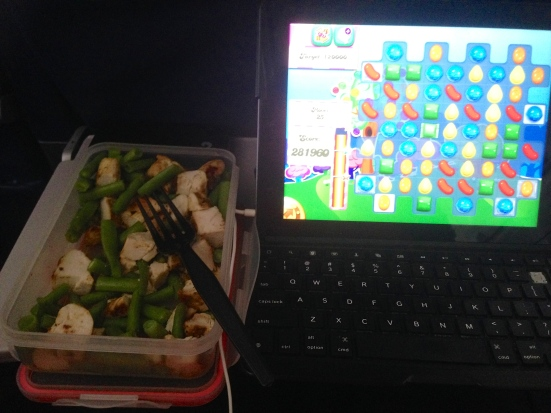 Chicken and candy crush - great combo!